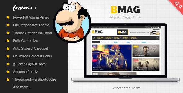 BMAG v2.1.1 - Responsive Magazin Blogger Teması İndir