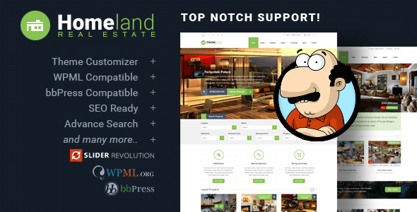 Photo of Homeland v3.2.2 – Responsive WordPress Emlak Teması İndir