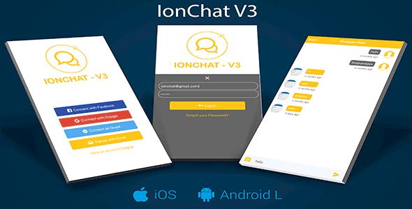IonChat Firebase v3 Messenger Lite Uygulaması İndir