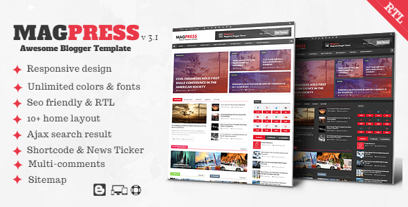 Photo of Magpress v3.1 – Responsive Magazin ve Haber Blogger Teması İndir