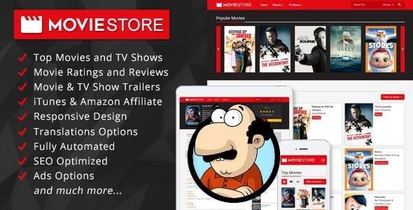 MovieStore v1.1 - Filmler ve TV Şovları Scripti