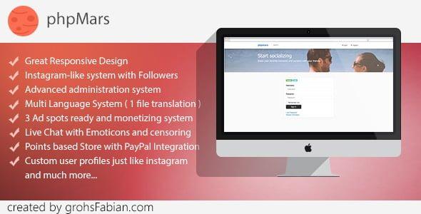 phpMars v1.1.0 - Sosyal Medya (Instagram clone) Scripti İndir