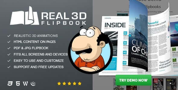 Real3D FlipBook v3.4.13 - WordPress Eklentisi İndir
