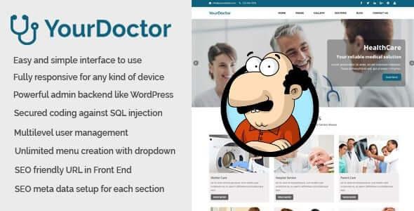 Yourdoctor - Tıp ve Doktor Web Sitesi CMS İndir