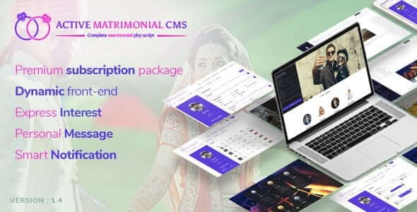 Active Matrimonial CMS v1.4 - Tanışma Platform Scripti İndir