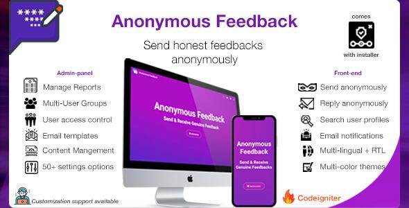 Anonymous Feedback v2.5 - Geri Bildirim Script İndir