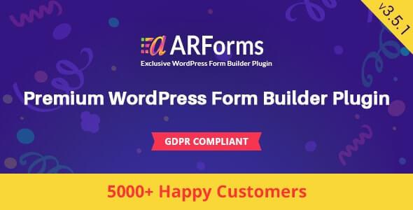 ARForms v3.5.1 - WordPress Form Oluşturma Eklentisi İndir