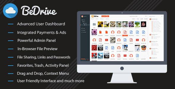 BeDrive v2.0.1 - Dosya Paylaşımı ve Bulut Depolama Script İndir