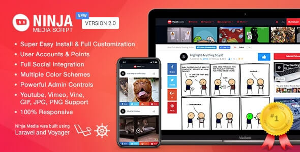 Ninja Media Script v2.0.2 - Viral Medya Paylaşım Scripti İndir