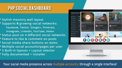Photo of PHP Social Dashboard v1.5.5 – Sosyal Medya Yönetim Script İndir