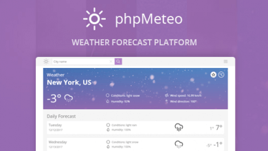 Photo of phpMeteo v1.6 – Hava Durumu Script İndir
