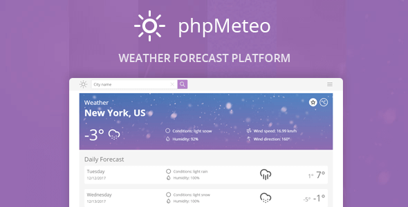 phpMeteo v1.6 - Hava Durumu Script İndir