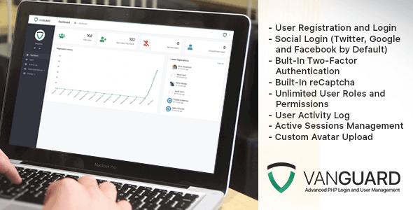 Vanguard v3.0.1 - Gelişmiş PHP Giriş ve Kullanıcı Yönetim Script İndir