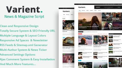 Photo of Varient v1.3.2 – Haber ve Magazin Script İndir
