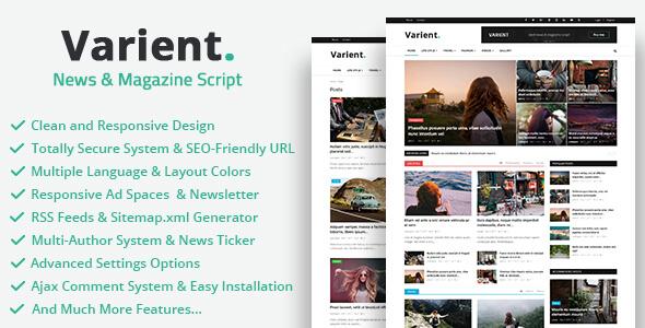Varient v1.3.2 - Haber ve Magazin Script İndir