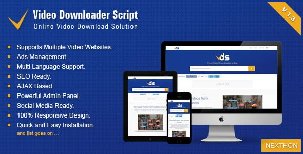 Video Downloader Script v1.3 - All In One Video Downloader İndir