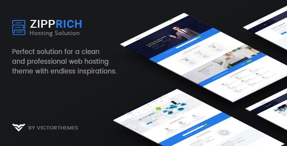 Zipprich - Web Hosting & WHMCS WordPress Teması