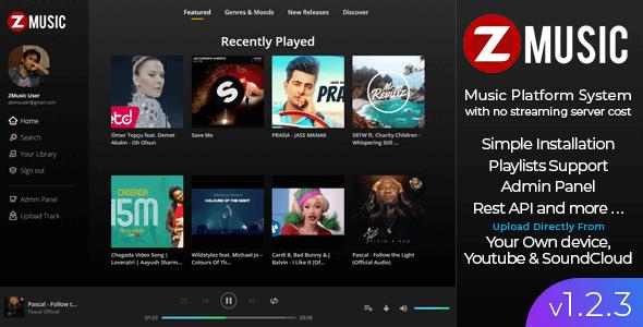 Zuz Music v1.2.3 - Müzik Dinleme Platform Script İndir