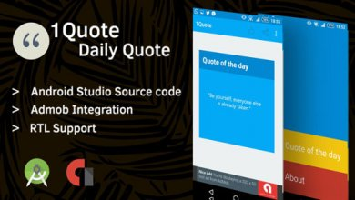 1Quote - Android Uygulama Kaynak Kodunu İndir