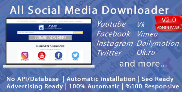 All Social Media Video Downloader V2 İndir