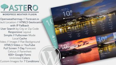 Astero WordPress Hava Durumu Eklentisi v1.4.3 İndir