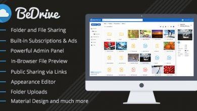 BeDrive v2.0.5 - Dosya Paylaşımı ve Bulut Depolama Script İndir