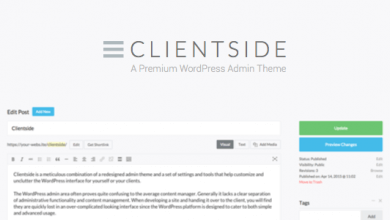 Photo of Clientside v1.13.2 – WordPress Admin Teması İndir