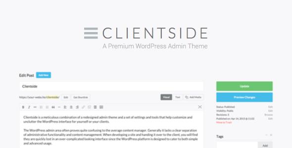 Clientside v1.13.2 - WordPress Admin Teması İndir