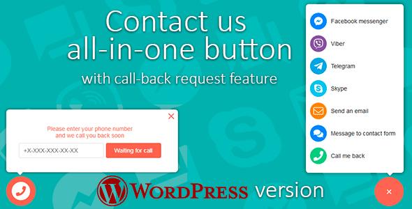 Contact us v1.0.3 - WordPress Arama ve İletişim Butonları Eklentisi İndir