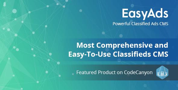 EasyAds v1.5 - Güçlü İlan CMS Script İndir