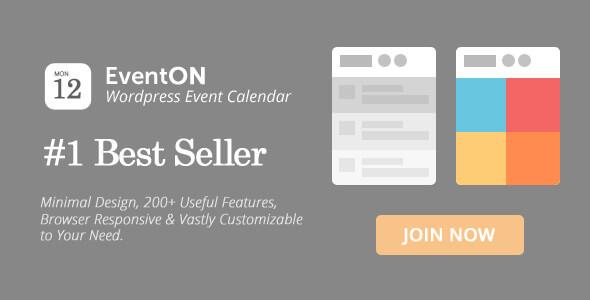 EventOn v2.6.13 - WordPress Etkinlik Takvimi Eklentisi İndir