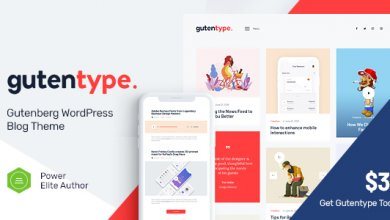 Photo of Gutentype – Modern Blog için Trendy Gutenberg WordPress Teması İndir