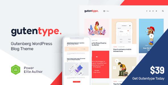 Gutentype | Modern Blog için Trendy Gutenberg WordPress Teması İndir
