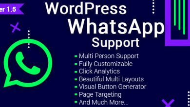Photo of WordPress WhatsApp Destek v1.5.1 Eklentisi İndir