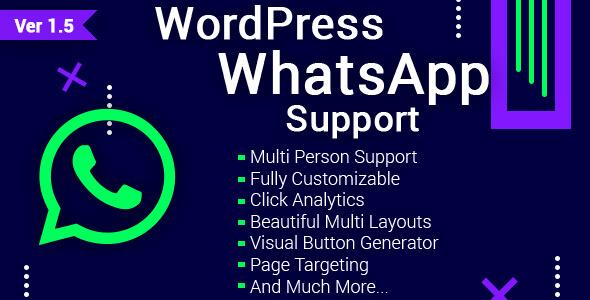 WordPress WhatsApp Destek v1.5.1 Eklentisi İndir