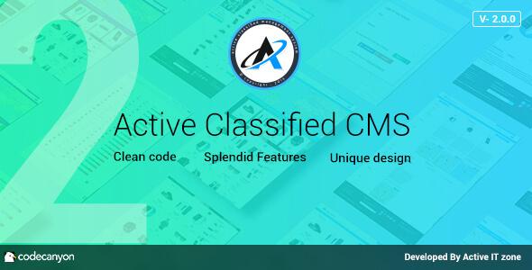 Active Classified CMS v2.0.0 - İlan Script İndir