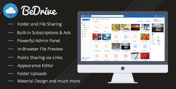 BeDrive v2.0.8 – Dosya Paylaşımı ve Bulut Depolama Script İndir