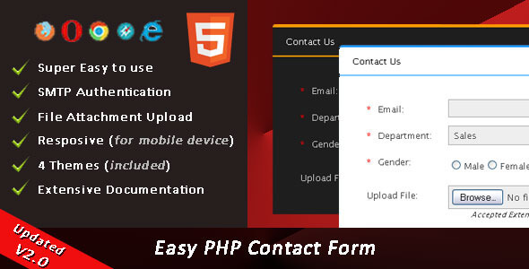 Easy PHP Contact Form Script v2.3 İndir