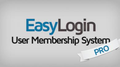 EasyLogin Pro v1.3.3 - Kullanıcı Üyelik Sistemi İndir