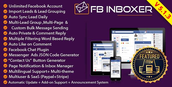 FB Inboxer v5.1.3 - Facebook Messenger Pazarlama Yazılımı İndir