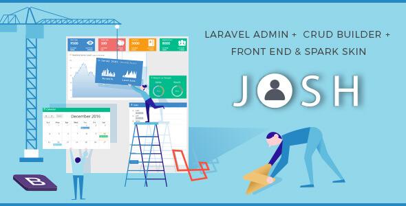 Josh v5.12.6 - Laravel Admin Teması + Front End + CRUD