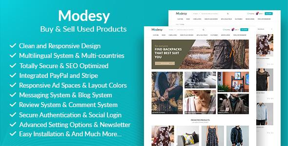 Modesy - 2. El Ürünler Al Sat Script İndir