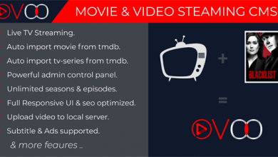 Photo of OVOO v2.5.5 – TV Dizisi ile Film ve Video Akış CMS İndir