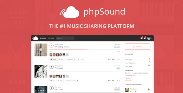 phpSound v4.3.0 - Müzik Paylaşım Platformu İndir