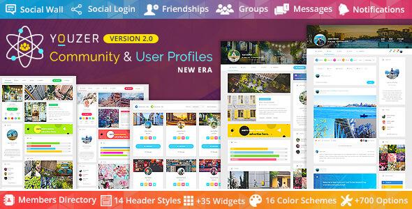 WordPress Youzer v2.1.7 Eklentisi İndir