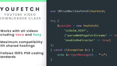 YouFetch - YouTube Video İndirme Script İndir