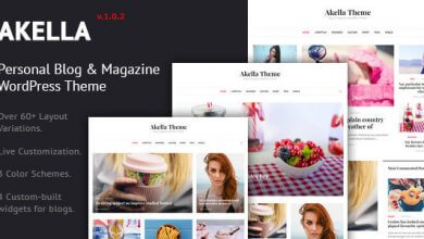 Photo of Akella v1.0.2 – Kişisel Blog & Dergi WordPress Tema İndir