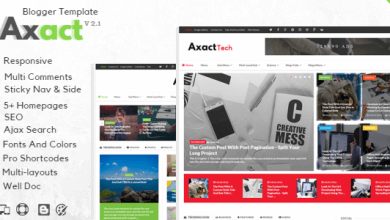 Photo of Axact v2.1 – Responsive Magazin Blogger Teması İndir