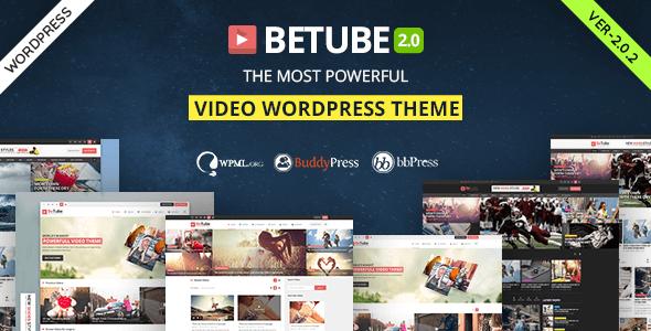 Betube v2.0.6 - WordPress Video Teması İndir