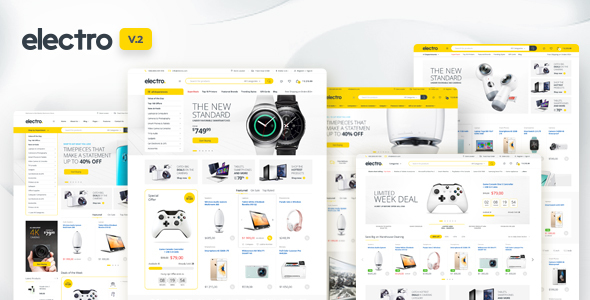Elektro Elektronik Mağazası WooCommerce Teması İndir